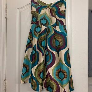 Velvet Torch Strapless Dress- Size Medium